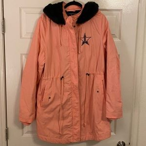 Jeffree Star pink frostbite parka winter jacket